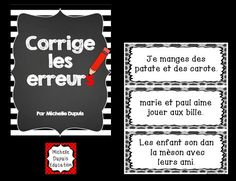 Nos élèves ont besoin de pratique régulière pour améliorer leur habileté à bien corriger leurs écrits. French Teaching Resources, Teaching French, Classroom Resources, Core French, Teachers Corner, French Classroom, French Teacher, French Immersion, French Lessons