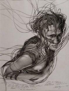 "Saatchi Art Artist Cane Dojcilovic; Drawing, ""Drawing #11"" #art"