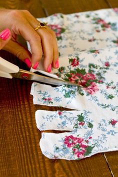 DIY floral dresses! gonna head to goodwill and try this!