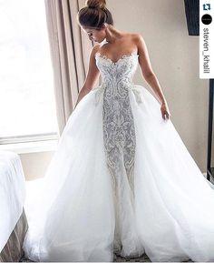 M o n d a y M u s e #Repost @steven_khalil ・・・ DANIELLE | custom #stevenkhalil Wedding gown.