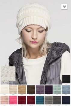 4a125c5d538 Solid CC Beanie with Fuzzy Lining – The Grapevine Boutique Grey Beanie