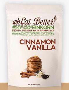 Cinnamon Vanilla EINKORN pancake/waffle mix. www.whEatBetter.com/shop/