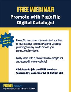 Suppliers! Free Webinar: How to Promote with PageFlip Digital Catalogs