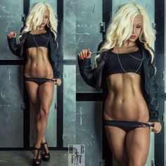 AMAZING SCULPTED ABS of blonde bikini & #Fitness model Jen Heward : if you LOVE Health, Workouts & #Inspirational Body Goals - you'll LOVE the #Motivational designs at CageCult Fashion: http://cagecult.com/mma