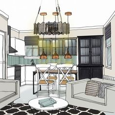 Lots of people find it really hard to visualise what a room design will look like from just plans. If thats you we can draw up super realistic images, like this one created by the very talented Emily. Would this help you to imagine the finished space? Interior Design London, London Brighton, Lots Of People, Really Hard, My Design, Draw, 3d, How To Plan, Space