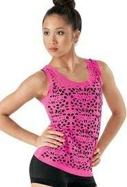 NWOT Spandex Camisole Bra top Dance Costume Layering piece Classwear ch//ad szes