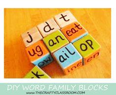 Word Ending Block Game. Love this!
