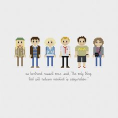 Shaun of the Dead Cross Stitch Pattern PDF by pixelsinstitches, $5.00