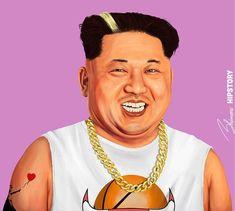 Карикатура на Ким Чен Ын
