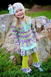 Trish Scully Child Missoni Inspiration Hooded Ruffle Dress-Designer Girl Clothes only $48.00 - New Items