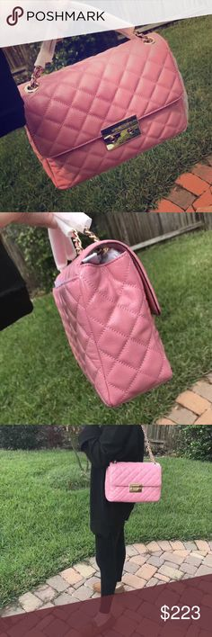 a014b62081109 Michael kors sloan light pink Michael Kors Bags Shoulder Bags