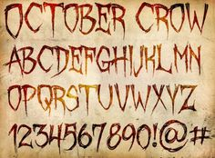 "Spooky Free Fonts - from site ""You can use these fonts however you want, for anything you want to use them for, as long as you dont try to claim you made them. If youre feeling magnanimous, let me know how youre using them, and consider donating a couple bucks to help me continue making these things for you..."""