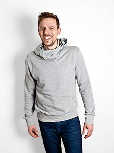"soulhome hoodie ""marvin"" gr. s, m, l, xl grau  von soulhome auf DaWanda.com"