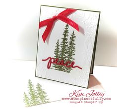 Stampin Artfully: Mossy Meadow + Real Red