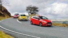 208 GTI vs Clio RS vs Fiesta ST - BBC Top Gear Clio Rs, Ford Fiesta St, Top Gear, Fast Cars, Peugeot, Bbc, Saints, Classic, Santos