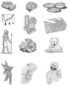 CRAFT Magazine Sidebar Illustrations by Tim Lillis, via Behance