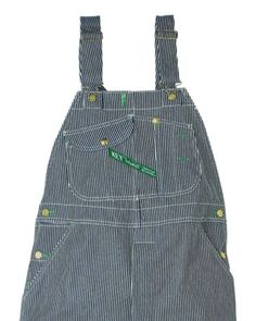 Key Industries Bib Overalls Hi-Back Zipper Fly Hickory Stripe Firm Hand 273.47 - Scruggsfarm.com