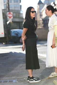 Midi skirt. | @gococollective