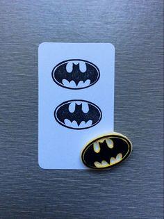 Batman logo stamp. hand carved stamp. rubber stamp , mounted