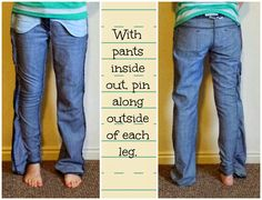 Retired Perfectionist: Give Your Old Jeans a Skinny Jean Makeover! Tutori...