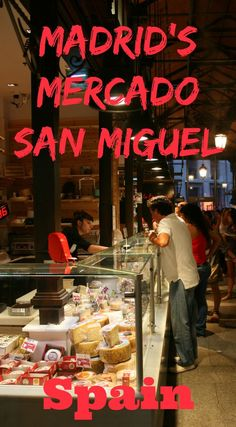 Spend an evening browsing and tasting in the Mercado San Miguel. Just off the Placa Mayor, this gorgeous covered market offers delicious artisinale food and drinks - the ultimate tapas bar! A must do when visiting Madrid in Spain.