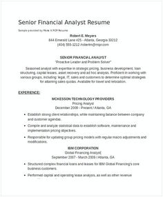 Senior Financial Analyst Resume Real Estate Financial Analyst Resume 1  Financial Analyst Resume