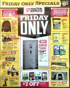 Tractor Supply Black Friday 2017 Ads and Deals See all the best Tractor Supply Black Friday 2017 deals, sales and doorbuster promotions. Start browsing the Tractor Supply Black Friday ad today and . Black Friday 2017 Ads, Black Friday Shopping, Origin Of Black Friday, Tractor Supply Company, Dog Food Online, Dog Dental Care, Dog Insurance, Can Dogs Eat, Tractor Supplies