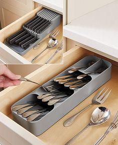 Cutlery Storage, Kitchen Utensil Storage, Storage Organizers, Small Kitchen Storage, Storage Bins, Storage Cabinets For Kitchen, Organize Small Pantry, Kitchen Drawer Handles, Kitchen Cabinet Accessories