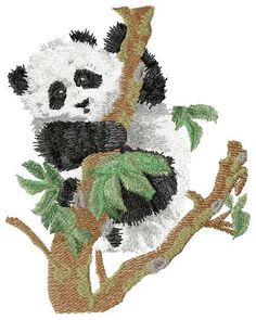 Panda free embroidery - Animals free embroidery designs - Machine embroidery community