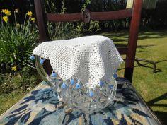 Vintage crocheted milk jug cover