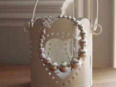 Silver beaded bracelet/925/Tiffany by NikkiHillsDesign on Etsy