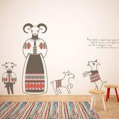 Ana Banica pune Cai verzi pe pereti intr-un atelier din Popa Tatu Cozy Corner, Mural Painting, Three Kids, Traditional House, Kids Rugs, Interior Design, Handmade, Inspiration, Romania