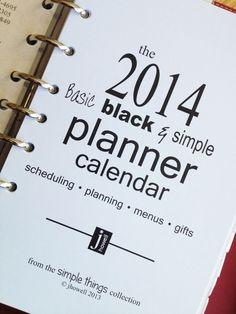 2014 planner calendar