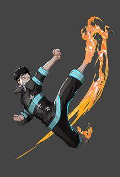 Manga Anime, Anime Demon, Otaku Anime, Anime Art, Blue Exorcist, Fire Brigade Of Flames, Soul Eater, One Punch Man, Shinra Kusakabe