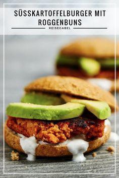 Das Rezept für Süßkartoffelburger, lecker und vegetarisch.