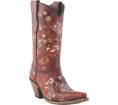 In love...Lucchese Floral Red Boots- Shoebuy.com