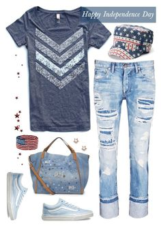 """""""Happy Independence Day"""" by musicfriend1 on Polyvore featuring Tortoise, Vans and Sole Society"""