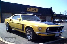 We Love The Color Of This JEGS Customer's 1969 Ford Mustang Visiting Our Retail Store! What Do You Think?
