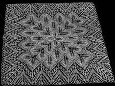 needlework passion and more .: Tablecloths square made of knitting - Yarn Fun Lace Knitting Patterns, Doily Patterns, Knitting Stitches, Stitch Patterns, Knitting Yarn, Crochet Doilies, Knit Crochet, Pull Bebe, Knitted Shawls