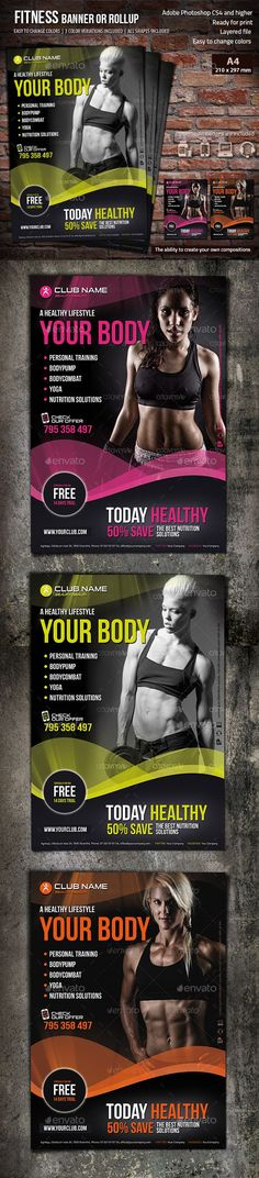 Clean and Professional Fitness Flyer Template AI, PSD Flyer - fitness flyer