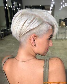 Damen haare kurze blonde Frauen kurze