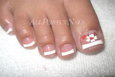 nice french pedi with design