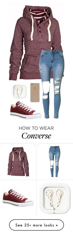 """Red 418"" by mrswilkinson on Polyvore featuring Converse and Agent 18"
