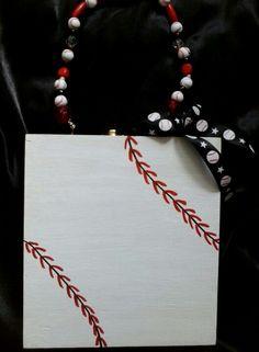 Baseball cigar box purse by Cyndi Greer