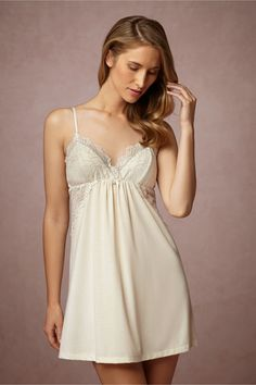 Shop our vintage-inspired bridal lingerie collection. BHLDN offers a variety of wedding lingerie perfect for your wedding night and beyond! Lace Lingerie Set, Bridal Lingerie, Pretty Lingerie, Lingerie Sleepwear, Lingerie Styles, Bridal Nightwear, French Lingerie, Wedding Night Lingerie, Night Dress For Women