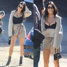 "The Brand New Style (@thebrandnewstyle) en Instagram: ""Kourtney Kardashian Wearing : Jacket : @stellamccartney Top : @alexandermcqueen Skirt :…"""