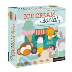 The Ice Cream Social board game by Petit Collage is the most delicious game. Stack ice cream cones, add sprinkles in this fun matching game. Gather the most ice cream scoops to win the game! Collage, Childrens Board Games, Die Macher, Bored Games, Card Games For Kids, Ice Cream At Home, Social Games, Ice Cream Social, Matching Cards