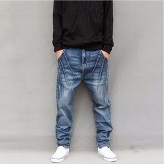 b5901c94070 Stretch baggy men hip hop jeans via JQ online store. Click on the image to