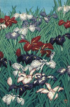 Iris or Sweet Flag Kawase Hasui (Japan, 1883-1957) Japan, July, 1929 Prints; woodcuts Color woodblock print Image: 14 11/16 x 9 7/16 in. (37.3 x 24 cm); Paper: 17 5/16 x 10 11/16 in. (44 x 27.2 cm) Gift of Mr. and Mrs. Felix Juda (M.73.37.81) Japanese Art