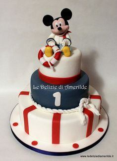Sailor mickey mouse cake